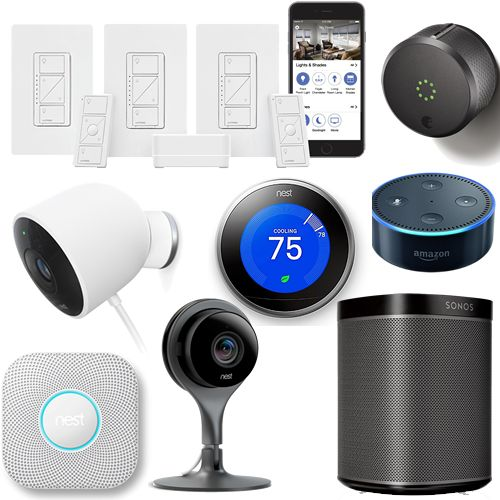 Two Day Smart Home Package with professional installation and 5yr   parts warranty. Features automated control and monitoring for the following: Three Lighting Zones with Lutron  ​Two Lutron Pico's (Lighting Remotes) ​One Nest Thermostat​ ​One Nest Cam Outdoor ​One Nest Drop Cam Indoor ​​One Nest Protect Smoke / CO Detector ​​One Amazon Alexa Dot ​​One August Smart Door Lock (w/ hub) ​​One Sonos Play1 ​​Lutron Caseta App for Iphone or Android