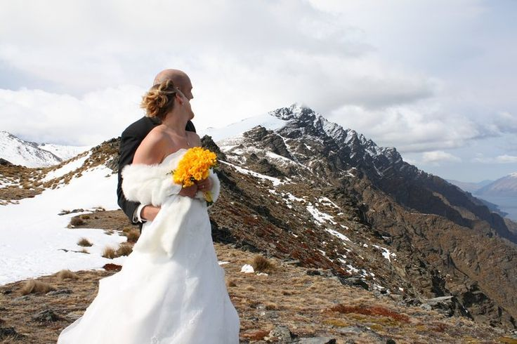 Jon & Erin. October 2008. The Remarkables, Queenstown. Photograph By Alpine Image Co.