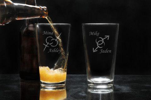 LGBTQ Pint Glass Set