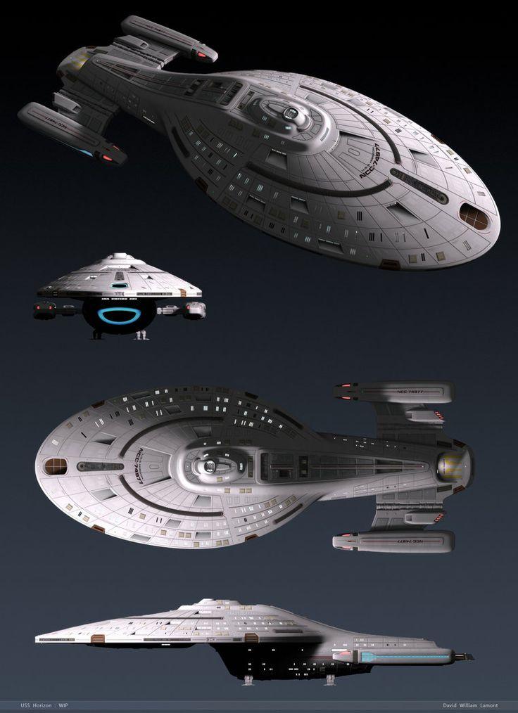 WIP - USS Horizon - October 2011 by dlamont on DeviantArt                                                                                                                                                                                 More