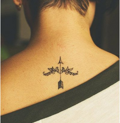nice arrow tattoo and placement
