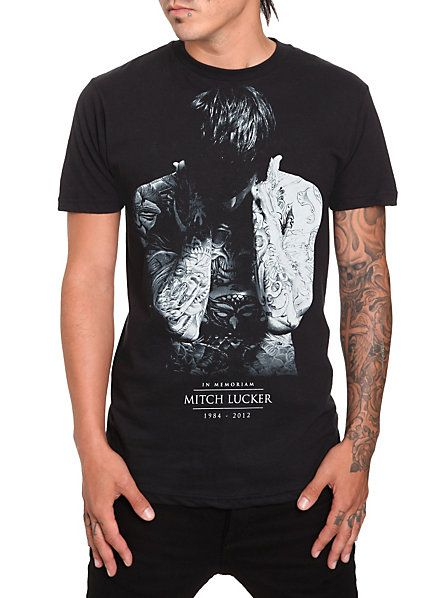 Mitch Lucker In Memoriam T-Shirt at Hot Topic. Some of the proceeds go to the Kenadee Lucker Education Fund started by the band when he died. Such a great way to remember him...