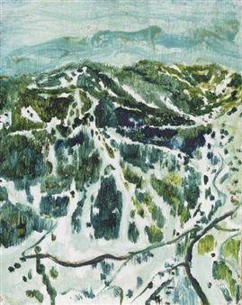 Ski mountain By Peter Doig