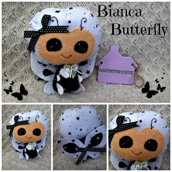 Handmade Bianca Butterfly Collectable  Black by HarveyshouseCrafts