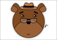 3bears pulgar Ricitos de oro y los 3 osos Máscaras