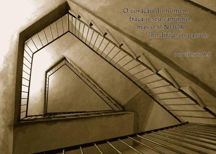 O Coração do Homem traça o seu caminho, mas o Senhor lhe dirige os  passos. - Provérbios 16.9