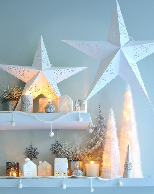 Collection NOEL 2012 : modern Christmas decor, winter, white