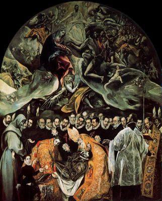 El entierro del señor de Orgaz, óleo sobre lienzo de 4,8m x 3,6m, pintado en estilo manierista por El Greco entre los años 1586 y 1588, para la parroquia Santo Tomé de Toledo, España, y se encuentra conservado en este mismo lugar. Representa el milagro en el que San Esteban y San Agustín bajaron del Cielo para enterrar a Gonzalo Ruiz de Toledo, señor de la villa de Orgaz, en la iglesia de Santo Tomé, como premio por una vida ejemplar de devoción a los santos, su humildad y caridad
