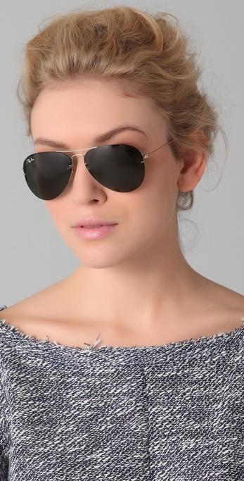 Ray-Ban Light Ray Aviator Flip Out Sunglasses - black aviators cause I'm fresher than a mother fucker
