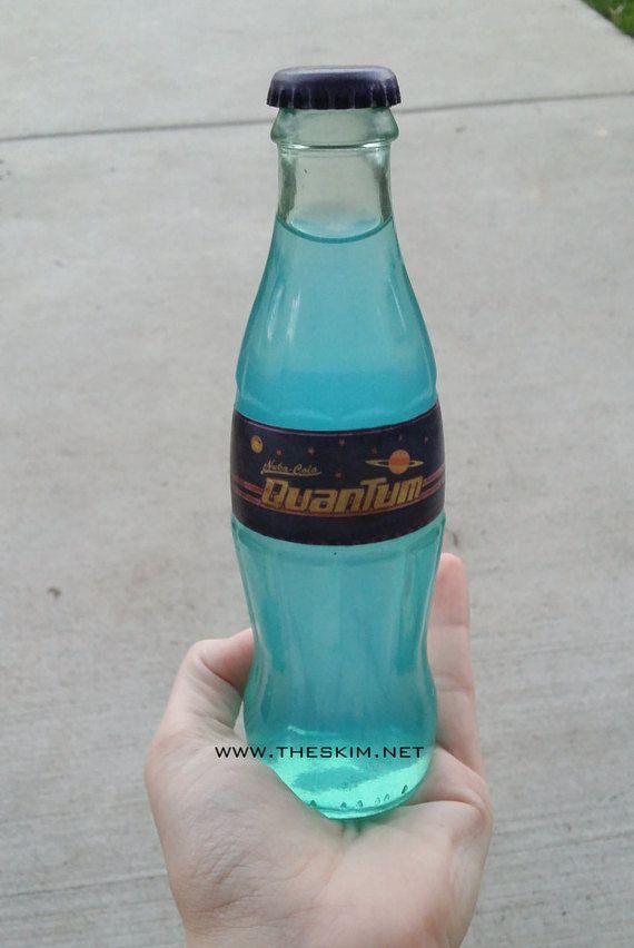 Fallout 4 inspired Nuka Cola Quantum Glass Bottle Soda.