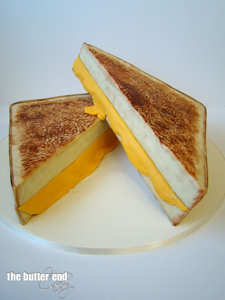 3-D sculpted grilled cheese sandwich cake by The Butter End Cakery