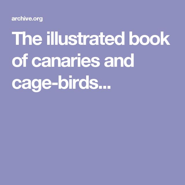 The illustrated book of canaries and cage-birds...