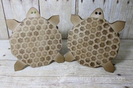 Stamp & Scrap with Frenchie: Turtle card envelop punch board and Hexagons Dynamic folder