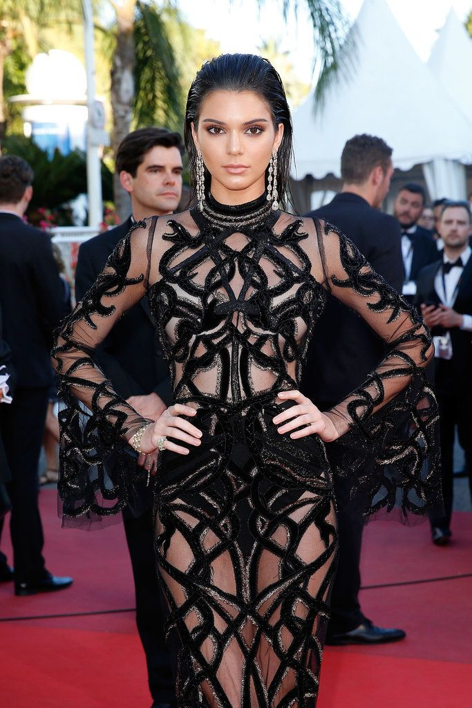 Kendall Jenner wearing a naked dress at Cannes.