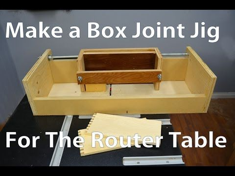 Making a Box Joint Jig for the Router Table