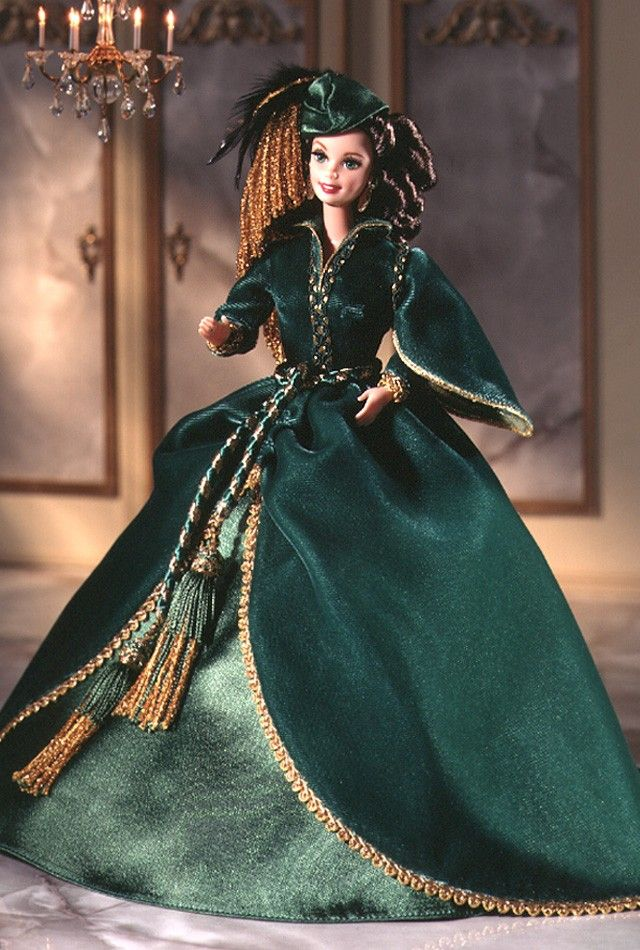 Barbie Doll as Scarlett O'Hara (Green Drapery Dress) - 1994 Hollywood Legends Collection - Barbie Collector