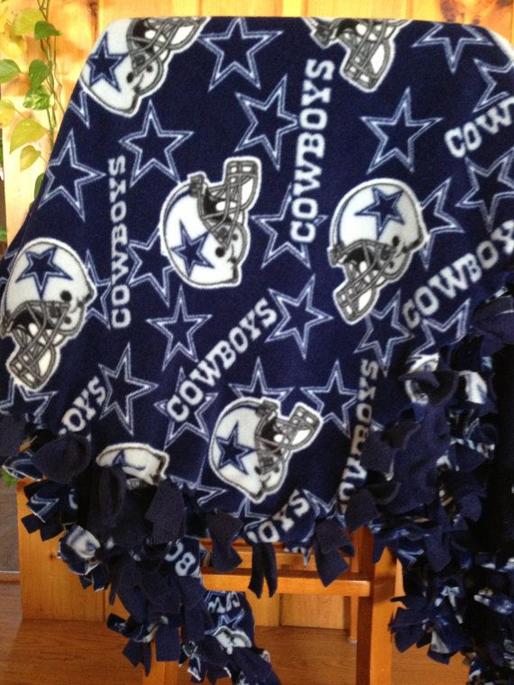 Hand Tied Fleece Dallas Cowboys Blanket/Throw by AbbieJude on Etsy, $39.00