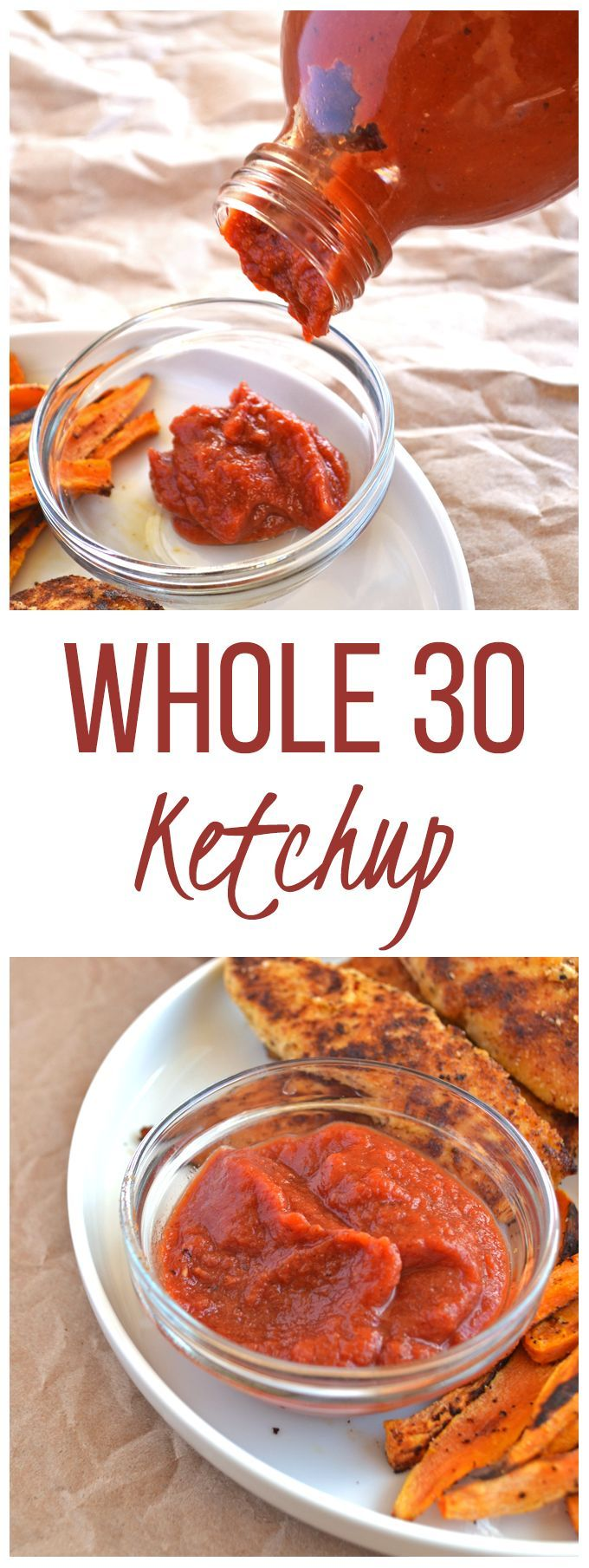 Whole30 Ketchup! So simple to make and a perfect addition to all those eggs! Paleo, sugar-free and full of flavor!