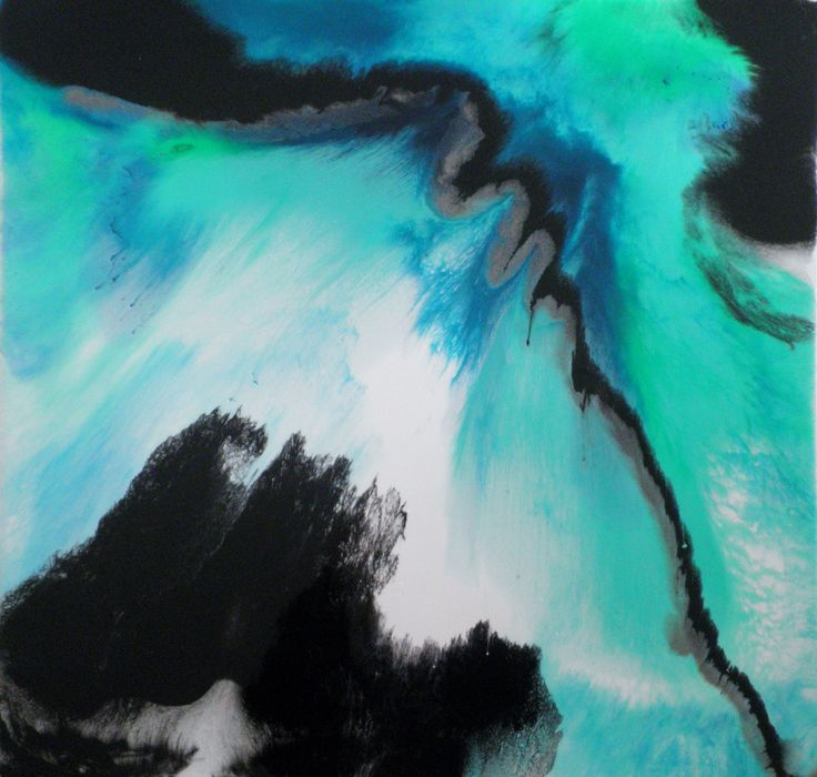 Rip Tide, sea art, acrylic, ink and resin on canvas Grace Louise