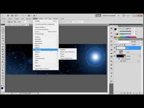 Como crear un firmamento de estrellas en photoshop - YouTube