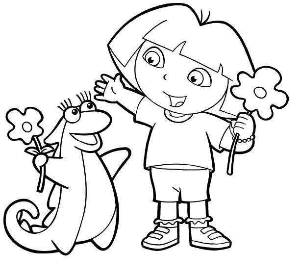 166 best dora coloring pages images on Pinterest Pre school
