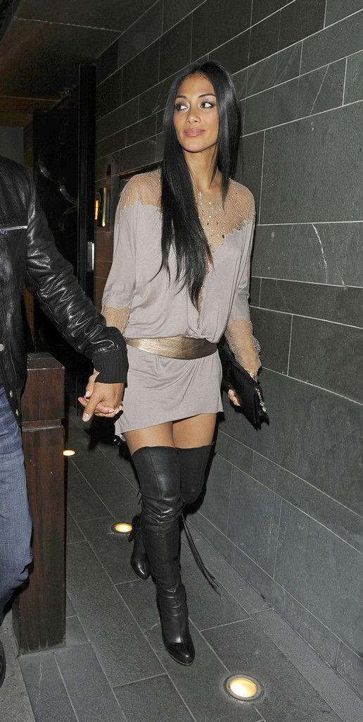 Nicole Scherzinger Over the Knee Boots