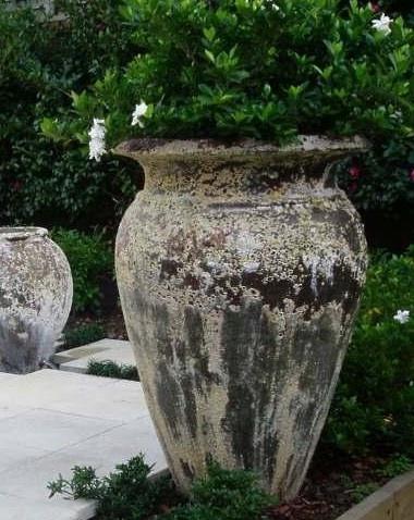 Atlantis stone urn.