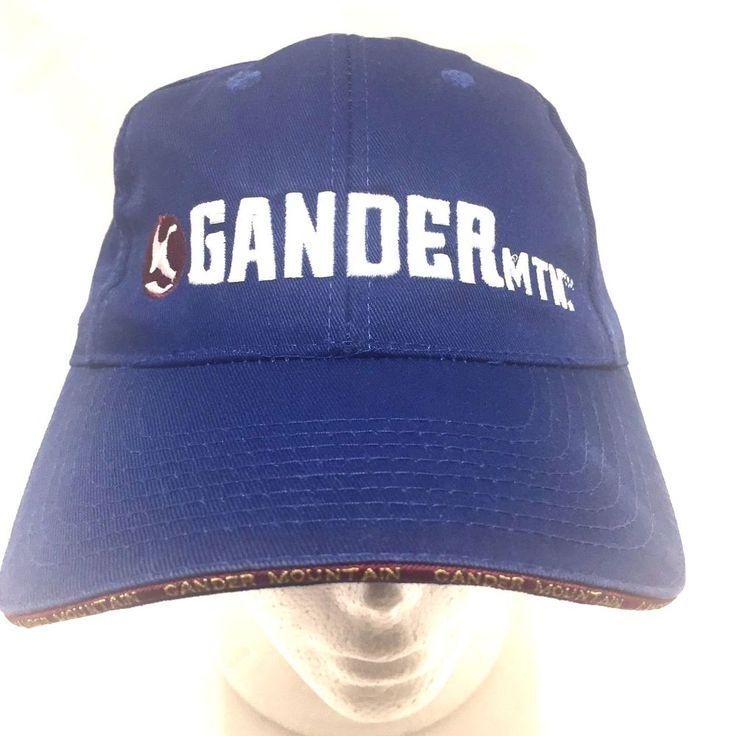Gander Mountain Hat We Live Outdoors Blue Strapback Baseball Cap Hunter #Unbranded #BaseballCap