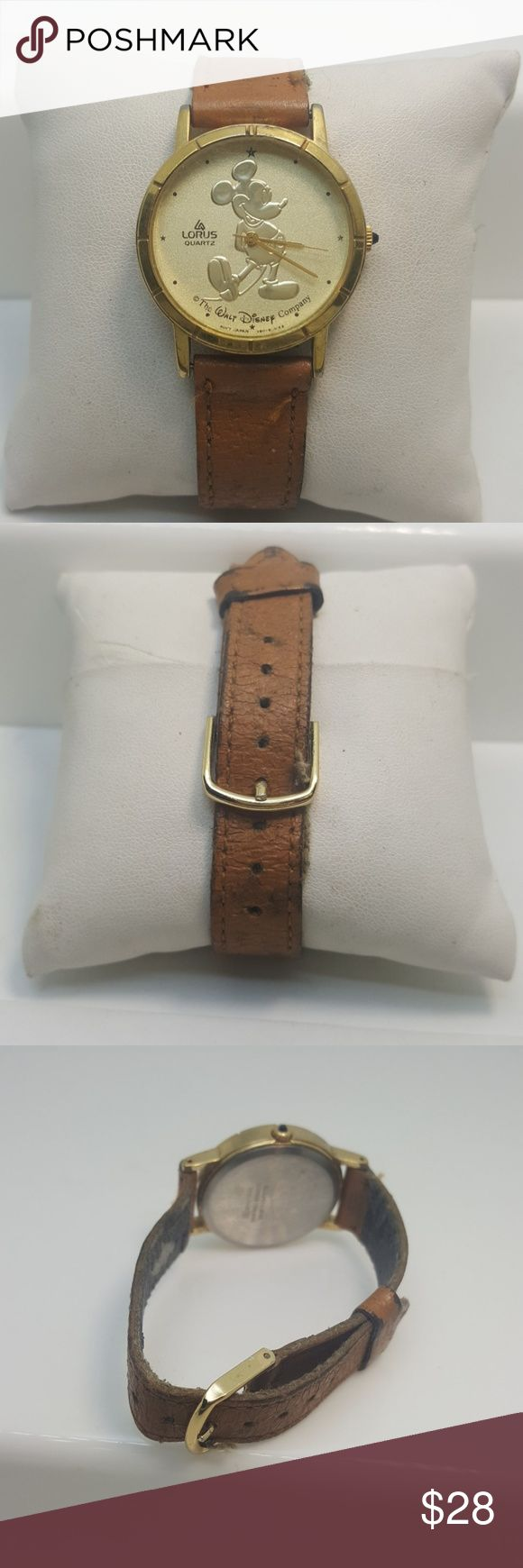 Vintage mickey mouse watch Vintage mickey mouse watch working needs a new leather band Accessories Watches