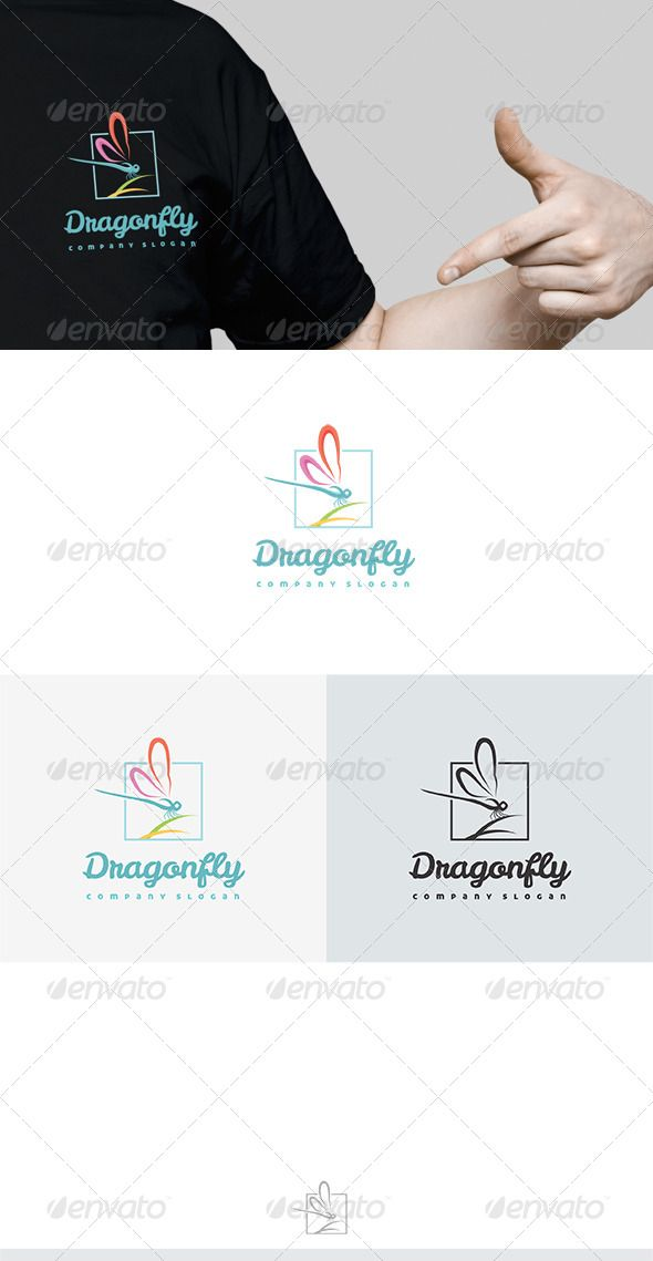 Dragonfly Logo — Vector EPS #kids #paint • Available here → https://graphicriver.net/item/dragonfly-logo/6668741?ref=pxcr