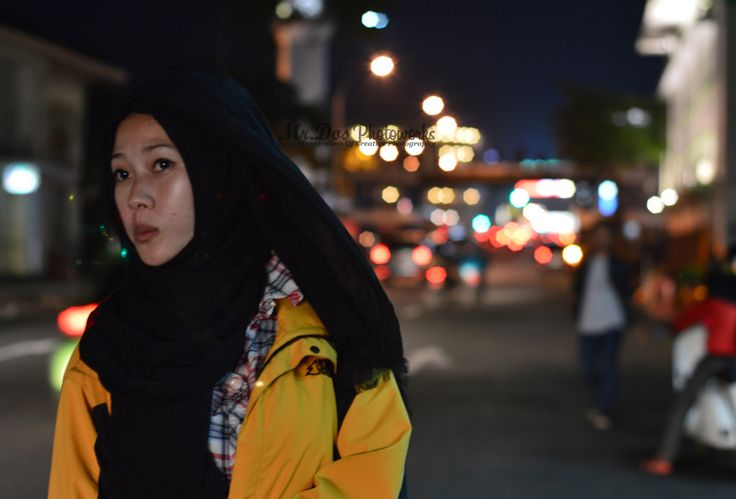 hijab style in night