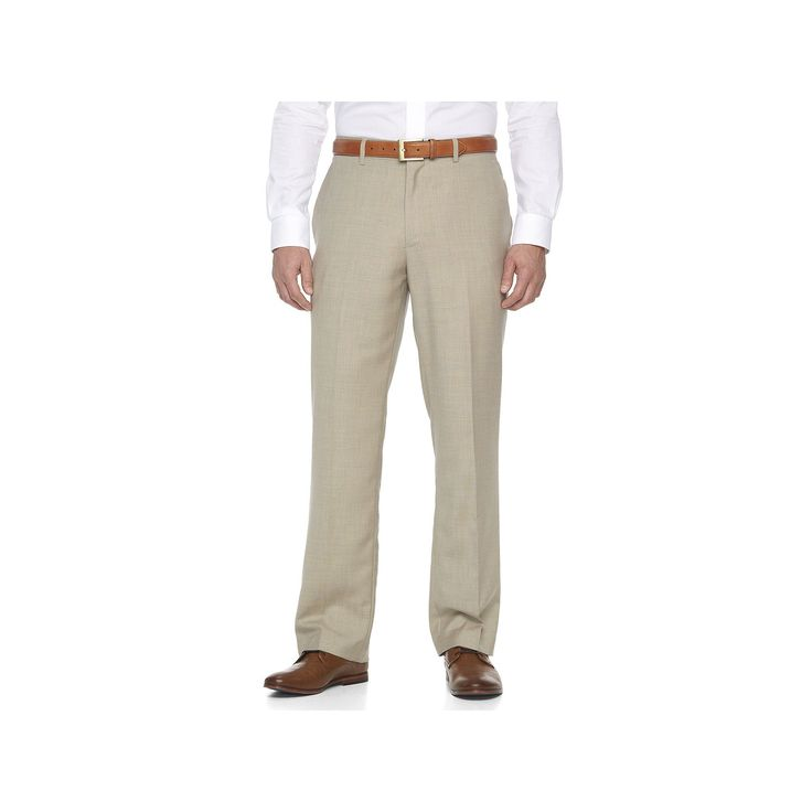 Men's Apt. 9 Slim-Fit Sharkskin Stretch Dress Pants, Size: 32X34, Med Beige