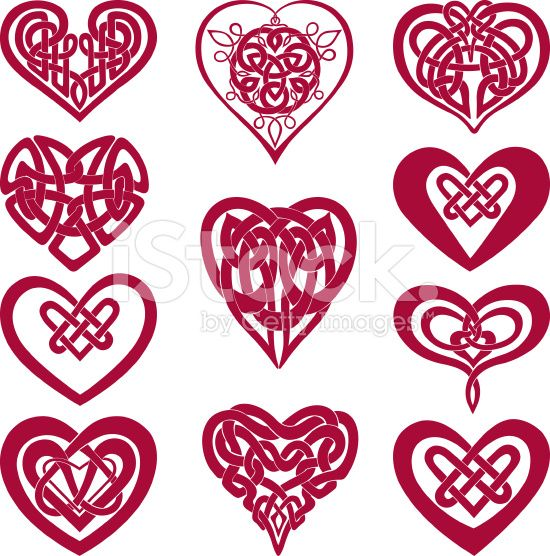 Noeud celtique coeur cliparts vectoriels libres de droits