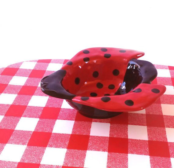 Vintage Ceramic Serving Dish Red Ceramic Serving Bowl Pottery