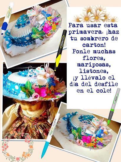 ¿Qué tal este precioso sombrero? Decorado con tus productos #AZOR.