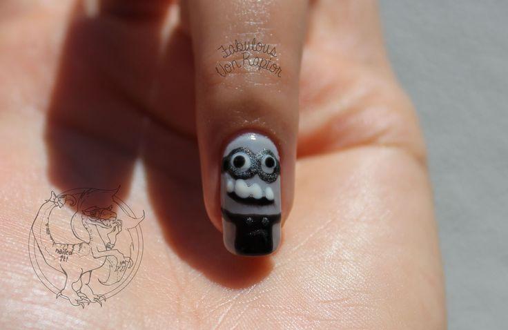 Fabulous Von Raptor - Minion Movie Manicure Nail Art | Despicable Me