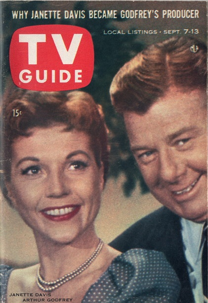 "Janette Davis and Arthur Godfrey of ""Arthur Godfrey and Friends""  September 7-13 1957"