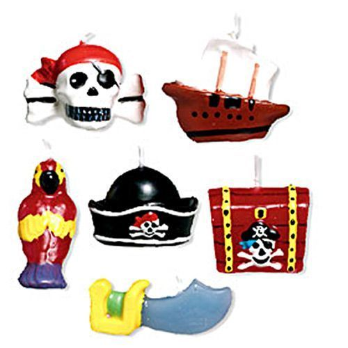 Party Ark's 'Pirate Treasure Mini Moulded Cake Candles'