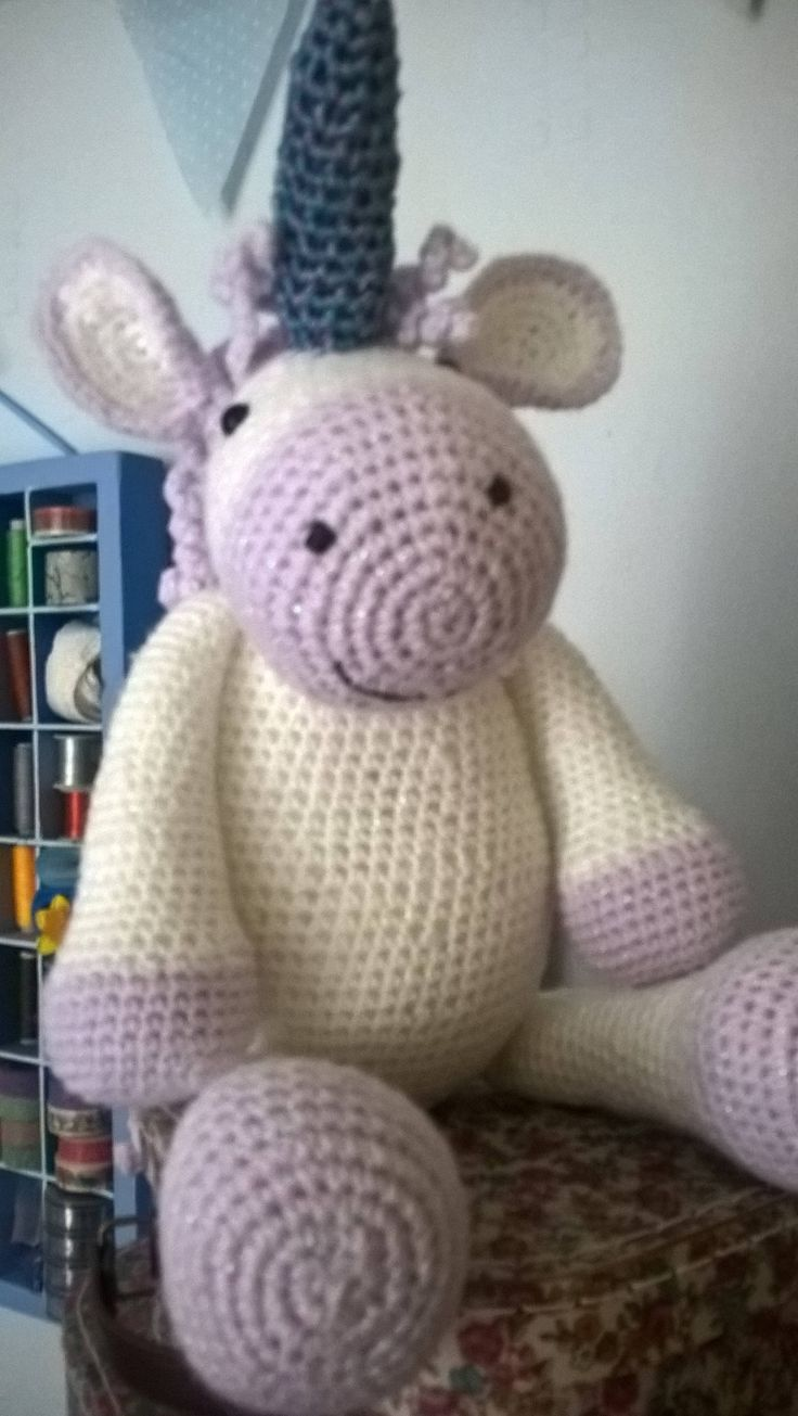 Hand Crocheted Unicorn by Beautsomme on Etsy