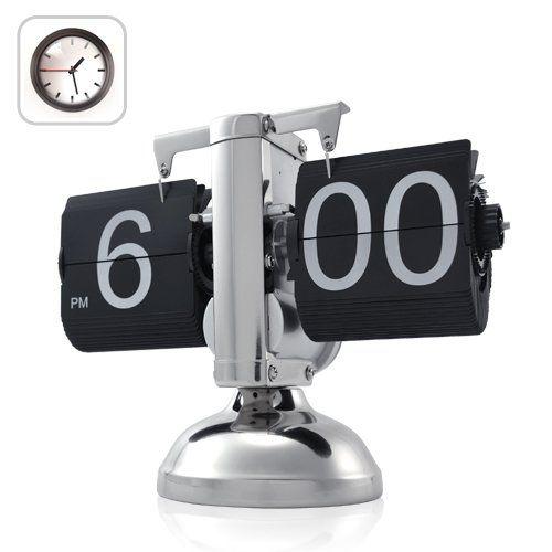 Retro Flip Down Clock - Internal Gear Operated: Electronics