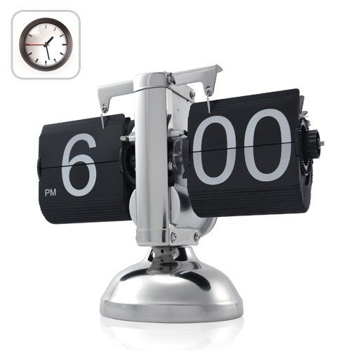 Retro Flip Down Clock - Internal Gear Operated: Electronics