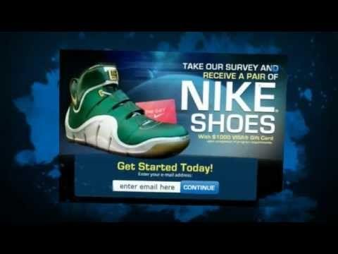 http://www.freestuffy.com/Nike-Shoes-Gift-Card/ Get a free $1000 Gift Card to get some new Nike Shoes! - Details