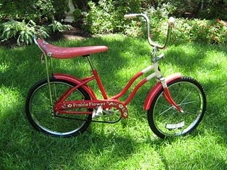 My Prairie Flower banana seat bike <3 i had one just like it.i loved my bike