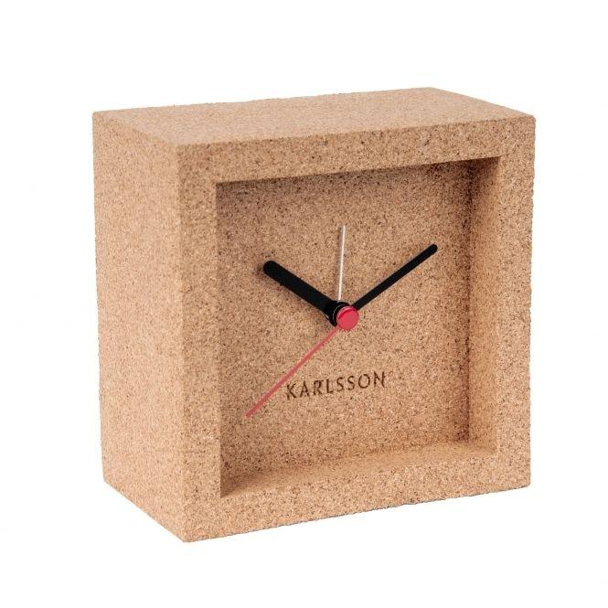 Karlsson Franky Alarm / Mantel Clock - Cork