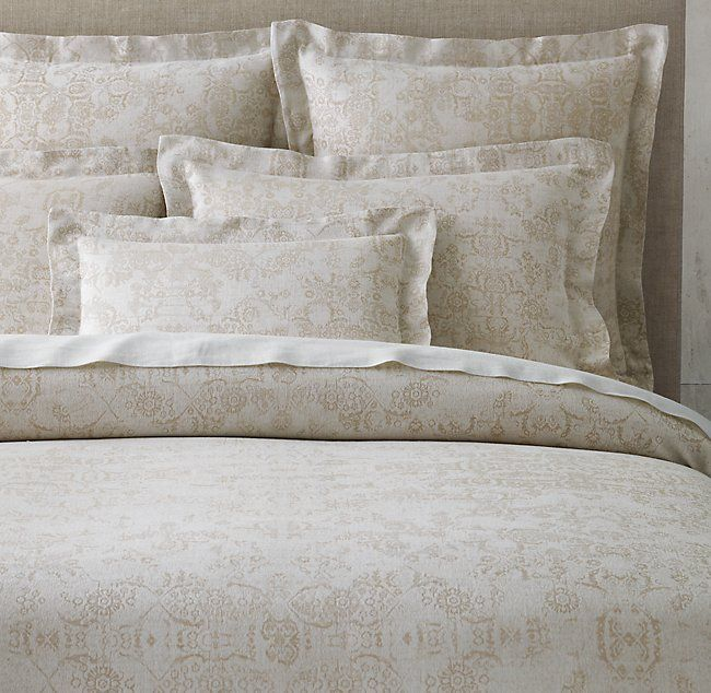 Esme Jacquard Cotton Linen Duvet Cover Contemporary Bed Linen Linen Duvet Covers Linen Duvet