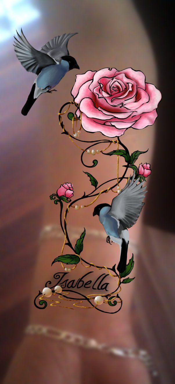 Soft pink rose tattoo design by slippereend on DeviantArt
