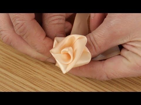 How To Make Ribbon Roses - YouTube