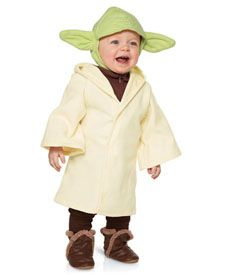baby Yoda costume (headpiece and robe only)