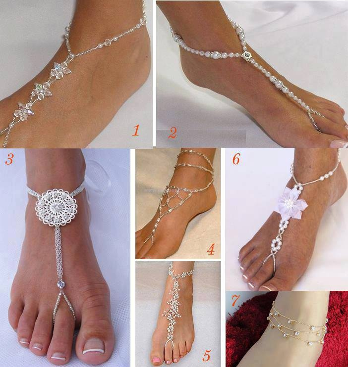 I love the idea of being barefoot with foot jewelery, because flip flops would look cheesy and me in heels would end with me on crutches probably