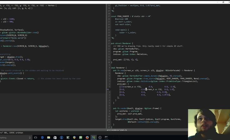 [LIVE NOW] Rewriting the classic game of Pong in rust using Glium (and OpenGL wrapper). Past the basic game new features will be added and mechanics tweaked to make it a more interesting and up to date game. Watch here: http://ift.tt/2lUIbS1 #programming#software#webdevelopment#coding#developer#computer#code#programmers#tutorial#webdesign#worldofprogrammers#computerscience#programmer#microsoft#c#ibm#frontend#vb#web#apple#mac#livecoding#liveedu#js#javascript#php#html5#html#gamedev#java